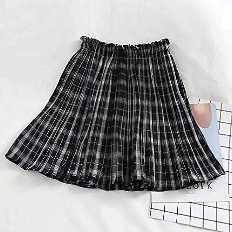 MIBKLPG Faldas para Mujer Falda A Cuadros Kawaii Minifalda ...