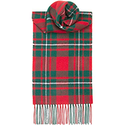 USA Kilts MacGregor Red Modern Tartan Wool Scarf Made in Scotland