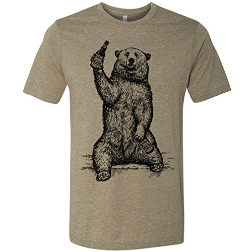 Beer Drinking Grizzly Bear - Funny Beer T-Shirt