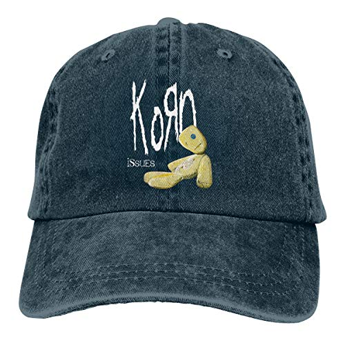David E Everett Korn Denim Hat Fashion Can Adjust Denim Cap Baseball Cap -