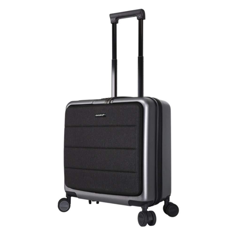 スーツケース ミニ微調整トラベルロッドソフトシェルハードシェル荷物TSAロック付きハードシェルライトポータブルコラム付きサイレントローテーター多方向航空機搭乗 多機能省スペース機内持ち込みスーツケース (色 : ライトグレー, サイズ : 18inches) B07SYNNT94 ライトグレー 18inches