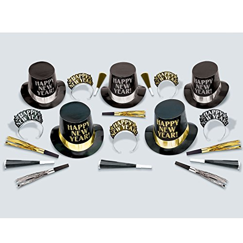 - Amscan Midnight Elegance New Year's Party Kit - 10 People