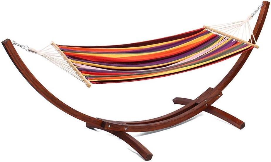 Couleur : Rainbow, Taille : 150x90cm Pettneeds-HE Chaise hamac Durable 5 Couleurs en Option Cadre en Bois hamac en Bois Tige de Tissu Largeur 150 cm Mobilier de Jardin