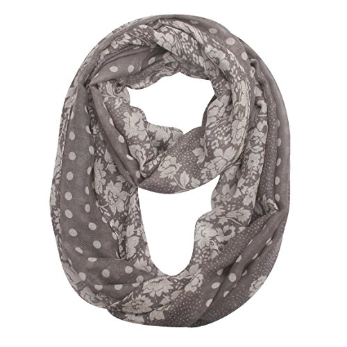 (24 Options) 1 Or 2 Packs Soft Lightweight Infinity Scarf For Women – USAstyle 2018 New Fashion Design Printed For Spring Summer, High Color Fastness Reach CP65 Standard , 30-Day