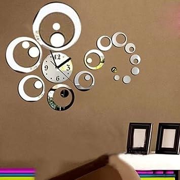 horloge murale diy 3d digital moderne décoratif décoration mural