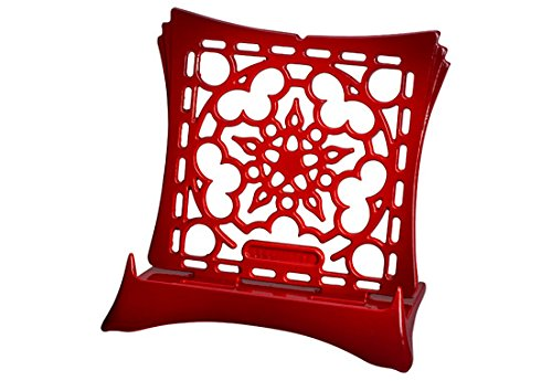 Le Creuset Signature Cast Iron Cookbook Stand, Cerise (Cherry Red) by Le Creuset