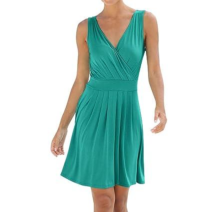 wave166 Vestido,Vestido de Fiesta Noche Corto para Mujer ...