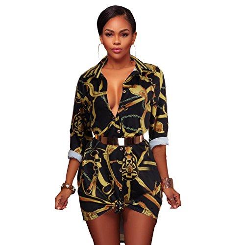 Chain Print Dress - 6
