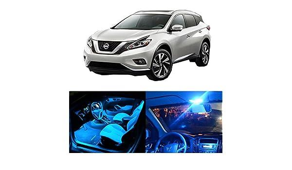 cciyu 8 unidades Ice Blue LED Bombilla LED Interior luces accesorios paquete de repuesto para 2015 - 2017 Nissan Murano: Amazon.es: Coche y moto