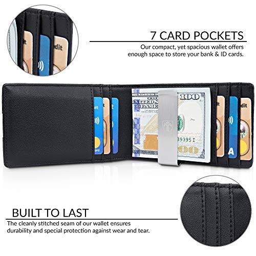 "TRAVANDO Money Clip Wallet""RIO"" - Mens Wallets slim Front Pocket RFID Blocking Card Holder Minimalist Mini Bifold Gift Box 2"