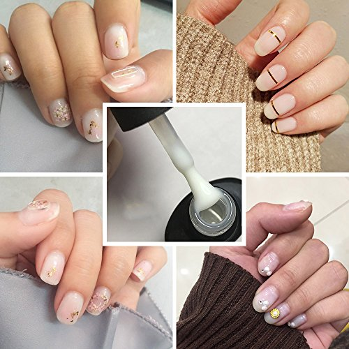 Frenshion 10ML Claro Lechoso Color de la Proteína UV LED Soak Off Gel Esmalte de Uñas Barniz Manicura 20425: Amazon.es: Belleza
