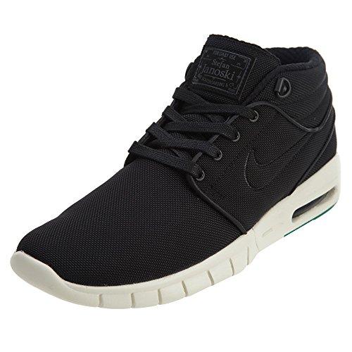 Nike Homme Stefan Janoski Max Mid Skate Chaussure Noir / Noir-neptune Vert