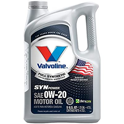 Valvoline Advanced Synthetic SAE 0W-20 Full Synthetic Motor Oil - 5 Quart; 813460