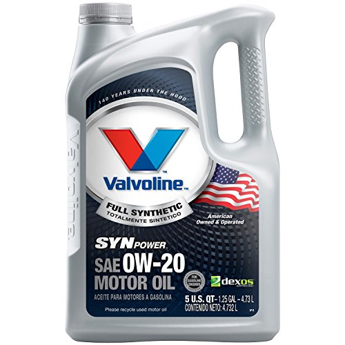 Valvoline SynPower 0W-20 Full Synthetic Motor Oil - 5qt (0w 20 Synthetic Oil)