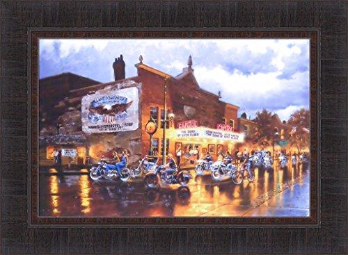 Americana Framed (American Classics by Dave Barnhouse 17x23 Motorcycles Bikes Harley Davidson Americana Framed Art Print Picture)