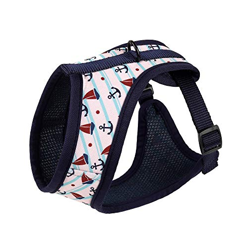 (Mile High Life Dog & Cat | Fit Easy Vest Harness | No Choke Pull Step-in | Breathable Soft Mesh | Comfort PaddingPuppy Training Halter | White | Large Neck 18.9
