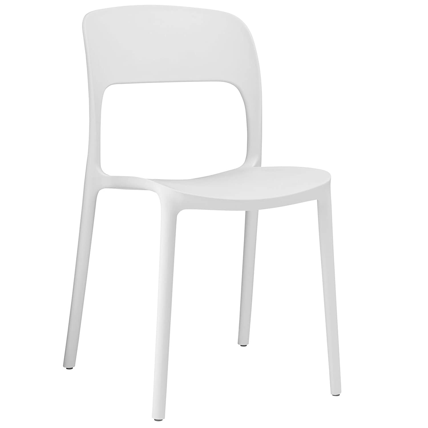 Amazon com modway hop dining chair white chairs