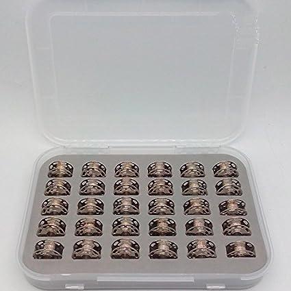 30 canillas con caja 0060265000QW, para canilla Bernina 0060265000 180, 185, 190, 200, 435, 450, 640, 730E, 1000, 1630, de Honeysew: Amazon.es: Hogar