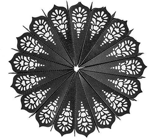 3 Stanzschablonen aus Stahl Faltsterne Passend f/ür g/ängige Stanzmaschinen