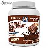 Dr. Berg's Meal Replacement Shake with MCTs & BCAAs, Plant Based Organic Protein, Zero Added Sugars - Delicious Creamy Chocolate Brownie Flavor, 11 Grams of Protein, 4 Grams of MCT, 1.55 Pounds