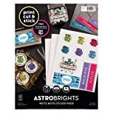 Astrobrights 15ct Matte Sticker Paper White WHITE
