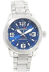Invicta 90275 Men's Coalition Forces Quartz GMT Blue Dial Stainless Steel Bracelet Dive Watch