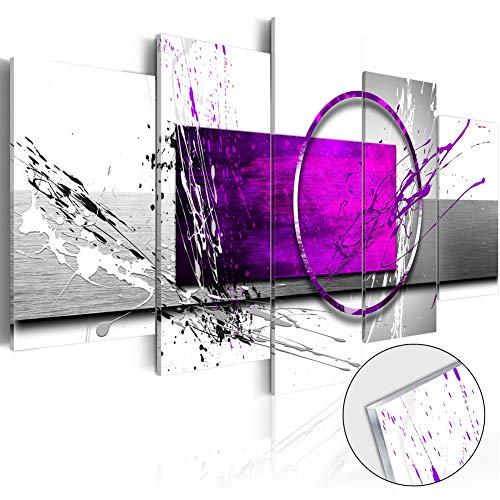 [해외]캔버스 현대 인쇄 회화에 보라색 표현 추상 벽 예술 / Purple Expression Abstract Wall Art on Canvas Modern Print Painting
