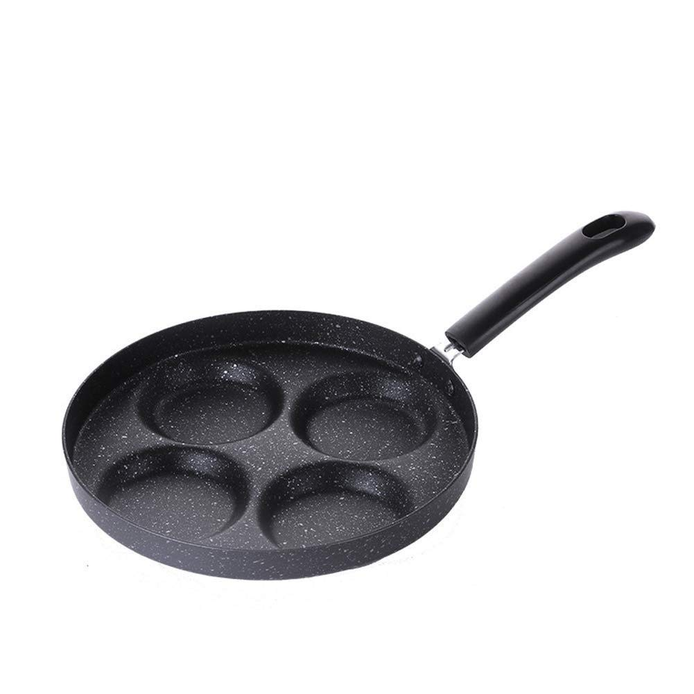 ZYK Frying Pan, Non-stick Forged Aluminum Frying Pan, 24 Cm, Professional Fried Egg, Burger Love Breakfast, Non-stick Egg Pot Four, Easy To Clean Less Fumes by ZYK