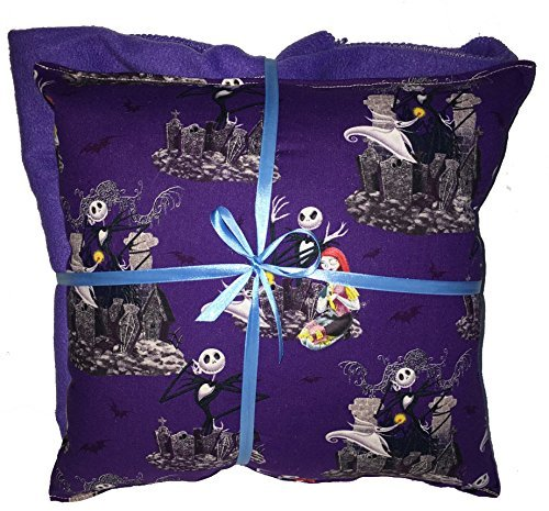 Nightmare Before Christmas Pillow And Blanket Jack & Sally Pillow and Blanket Set HANDMADE In USA Pillow
