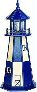 product image for DutchCrafters Decorative Lighthouse - Wood, Cape Henry Style (Patriot Blue/Ivory, 3)
