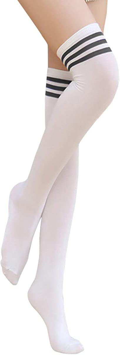 Retro Sch/üler Knitting Sportsocken Beinw/ärmer Schenkel Socken NATUCE Damen Overknee Str/ümpfe,Lange Knee High Socks,Warm Baumwolle Kniestr/ümpfe 3 Paar