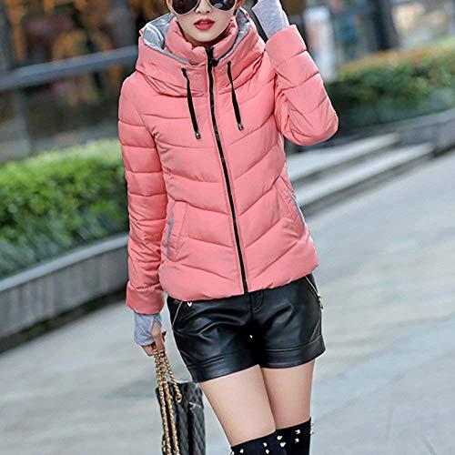 Fit la manches matelassé mode à épaissir femmes occasionnel hiver matelassée Casual de manteau Veste en capuche Veste à Blanc jeune air élégant plein Slim chaude longues pour P0x6CEwqf