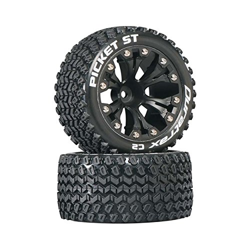 Duratrax DTXC3550 Picket RC Staduim Truck Tires with Foam Inserts, C2 Soft Compound, ST 2.8