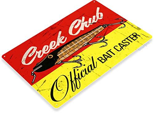 Tinworld Tin Sign Creek Chub Bait Retro Rustic Fish Fishing Lures Tackle Metal Sign Decor Lake Beach House Cottage B404 ()