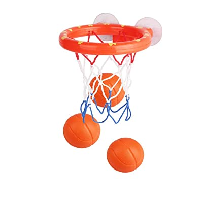 Kouye Bath Toy Basketball Hoop Balls Play Set Bathtub Shooting Game with Strong Suctions Cups for Boys Girls Toddler: Home & Kitchen