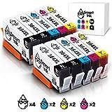 Smart Ink Compatible Ink Cartridges HP 364 XL 364XL 10 Multipack (4BK & 2C/M/Y) for HP Photosmart 7510 7515 7520 7525 C5370 C5380 C5390 C5550 C5580 C6380 D5440 D5460 D7560 B110a C309a C310a