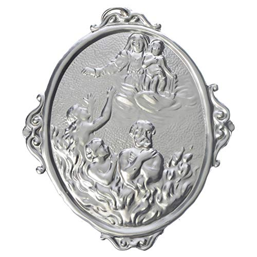 Confraternity Medal, Souls in Purgatory with Our Lady, Golden (Las Soldaderas Women Of The Mexican Revolution)