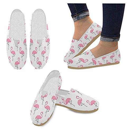 Mocassini Da Donna Di Interestprint Classico Su Tela Casual Slip On Moda Scarpe Sneakers Mary Jane Flat Flamingo