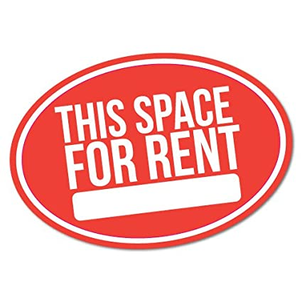 This space for rent car parking business sticker decal shopfront trading