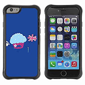 """A-type Arte & diseño Anti-Slip Shockproof TPU Fundas Cover Cubre Case para 4.7"""" iPhone 6 ( Funny English Muffin Illustration )"""