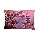 Artsbaba Pillowcases Peach And Tower Zipped Pillowcase Decorative Throw Pillow Cover 20''x30''