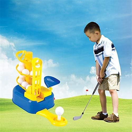 キッズスポーツ ゴルフ ゴルフ玩具セット、ゴルフボールゲーム、スポーツゲームクラブ、学習、アクティブ、早期教育、3〜7歳のアウトドアエクササイズ玩具キッズ、幼児、男の子、女の子 (色 : 青, サイズ : 28*25*16cm)