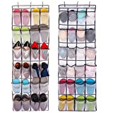 ComboCube White Large 24-Pocket Over-the-Door Hanging Shoe Organizer(one set)