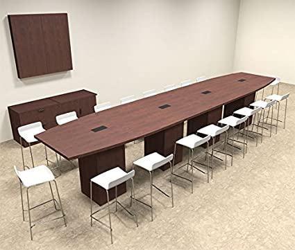 Amazoncom Boat Shape Counter Height Feet Conference Table - 18 foot conference table