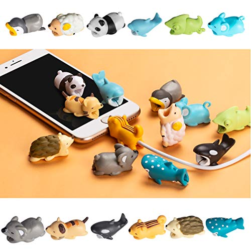 Aitsite 12 Pieces Charger Cable Protector Buddies, Cord Protector Saver with Carry Case and Animals Cable Bites for iPhone and Android Cell Phone Charging Cable by Aitsite (Image #4)