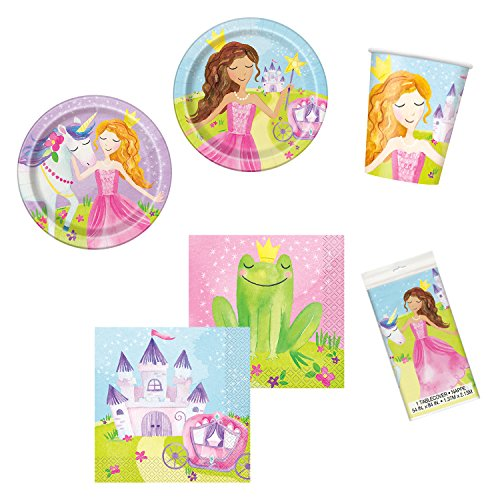 Unique Magical Princess Party Bundle | Luncheon & Beverage Napkins, Dinner & Dessert Plates, Table Cover, Cups | Great for Fairytale/Royal Birthday Themed Parties]()
