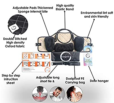 Portable Head Hammock with Manual Pressure Point Massager Bundle - Cervical Traction & Relaxation Sling | Shiatsu Self Massager | Office Workers, Drivers, and anyone with Shoulder Pain
