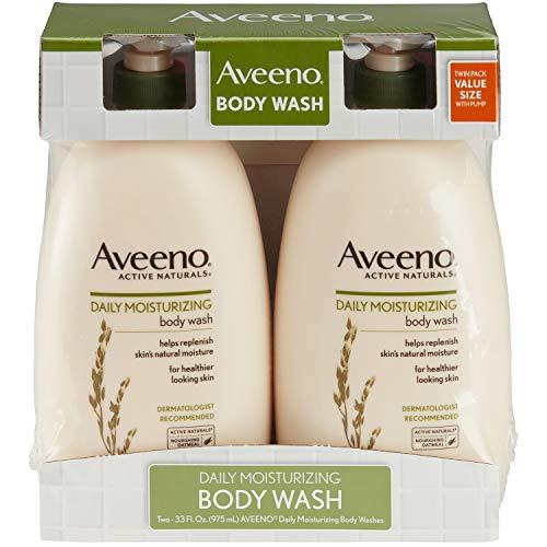 Product of Aveeno Daily Moisturizing Body Wash, 2 pk. 33 fl. oz. – Body Wash Cleansers Bulk Savings