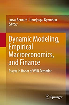 empirical essays in macroeconomics and finance Home graduate  (essays on macroeconomics and finance  (structural breaks and forecasting in empirical finance and macroeconomics .