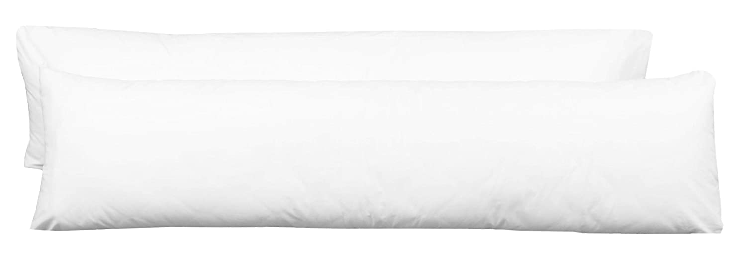 Zollner Cover for Body Pillows//side sleeper pillow cover//cushion cover/  cotton blend Saba 40//145 50/% cotton//50/% Polyester 001-wei/ß White / 40/ cm with Zip on the side